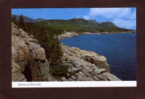ME Summit Otter Cliff Acadia National Park Cadillac Mountain Maine Postcard
