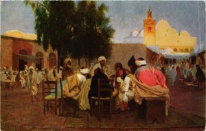 CPA Arabian Coffee-House and Mosque ALGERIE (874506)