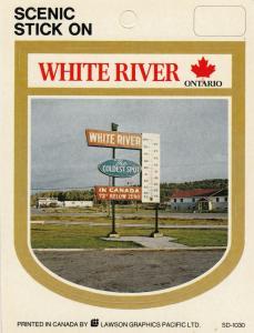 WHITE RIVER , Ontario , Canada , 50-60 : Stick on