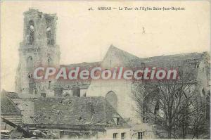 Old Postcard Arras The Tower of the Church of Saint John the Baptist