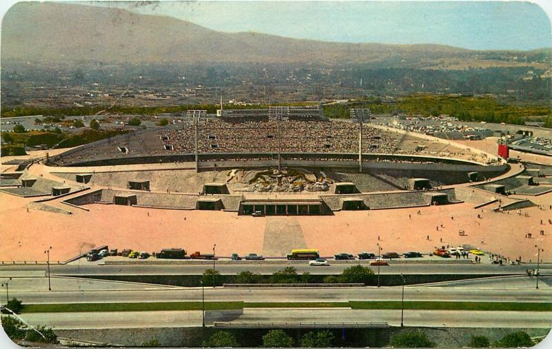 Mexico City National University of Mexico Olympic Stadium pm 1963 Postcard