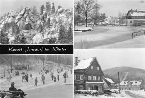 Kurort Jonsdorf im Winter, Eisbahn Buchberg Nonnenfelsen Gondelfahrt