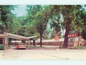 Unused Pre-1980 OLD CARS & SHEFFORD COURT MOTEL Harrisburg Pennsylvania PA u1201