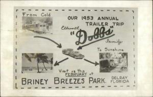 Ellsworth Dobbs Bernardsville NJ to Delray FL Homemade Real Photo Postcard