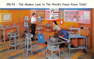 Hardware Advertising Old Vintage Antique Post Card Delta Power Tools Unused