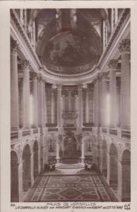 Palais De Versailles Chapelle Elevee Robert De Cotte 1699 French Old Postcard