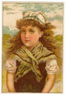 TC, EASTER Glove sale, 1890s, Victorian Girl