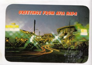 Greetings from AYIA NAPA, Cyprus, used Postcard