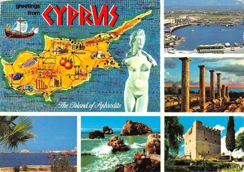 B108871 Cyprus Forum Ruins Map Panorama Harbour General view
