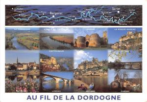 B51273 Au Fil de la Dordogne boats bateaux map carte multi vues  france