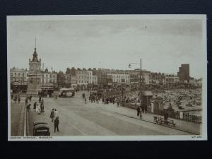 Kent MARGATE Marine Terrace & Clock Tower - Old Postcard by A.H.& S. LP200