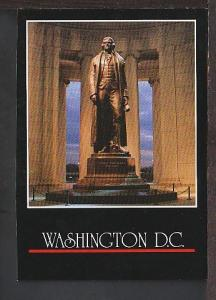 Statue Thomas Jefferson Washington DC Postcard BIN