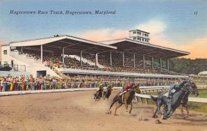 Hagerstown, Maryland USA Horse Racing Postcard Unused