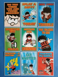 Set of 9 Official Beano Dennis the Menace Postcards Gnasher (series 1)