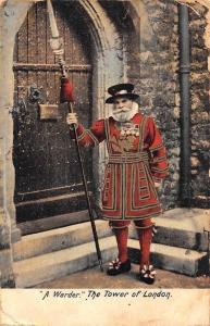 England A Warder The Tower of London 1910