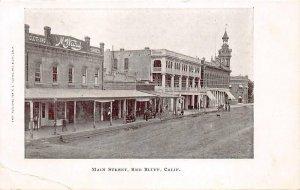 RED BLUFF, CA Main Street Scene California ca 1907 Vintage Postcard