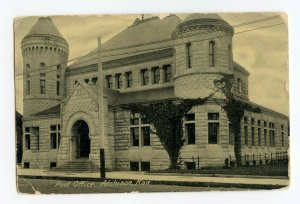 Postcard Post Office Atchison Kan. Kansas Standard View Card