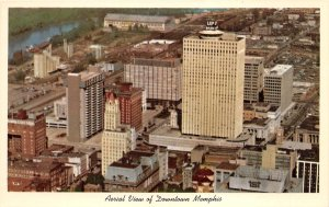 Memphis Tennessee 1960s Postcard Aerial View