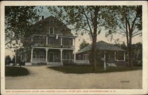 Alton Bay Lake Winnipesaukee NH Dance Pavilion & House c1920 Postcard