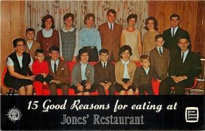 Bardstown Kentucky~Jones Restaurant~15 Family Members 1950s Postcard