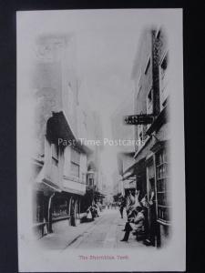 Yorkshire YORK The Shambles showing J. RENDER ? Butchers Shop c1904