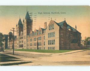Divided-Back HIGH SCHOOL SCENE Hartford Connecticut CT E2486