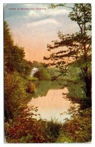 Early 1900s Scene in Graceland, Chicago, IL Postcard *6L(2)34