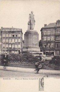 Belgium Namur Place et Statue Leopold 1er
