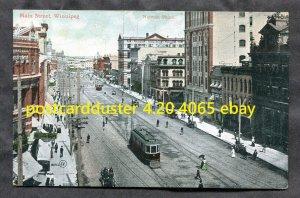 dc395 - WINNIPEG c1908-10 Main Street. View by NOTMAN. Antique Postcard