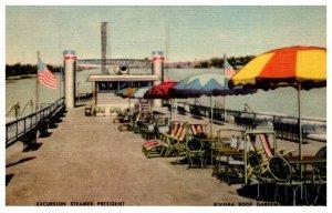Excursion Steamer President , Riviera Roof Garden