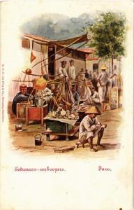 CPA JAVA Eetwaren-verkoopers INDONESIA (565913)