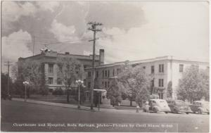 Idaho Id Real Photo RPPC Postcard 1962 SODA SPRINGS Court House Hospital
