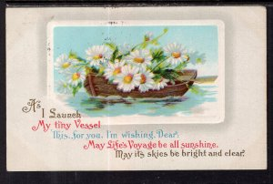 May Lifes Voyages Flowers Rowboat BIN