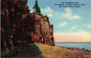 Postcard ME Maine Cathedral Rock Mt Desert Island Bar Harbor Acadia National