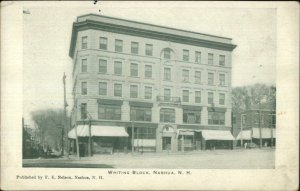 Nashua NH Whiting Block c1905 UDB Postcard