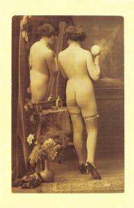 Nostalgia Postcard c1921 Nude Woman Lady, Risque, Reproduction Card NS14