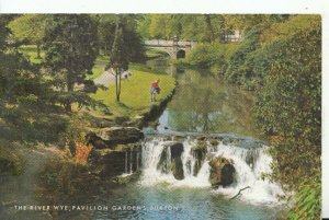 Derbyshire Postcard - River Wye - Pavilion Gardens - Buxton - Ref 16339A