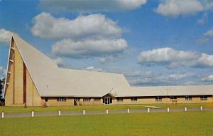 Hayward Wisconsin~First Lutheran Church~A Frame~Huge Lawn~1960s Postcard