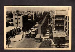 Israel Israeli Tel Aviv Ben Yehuda Road Rd Vintage Bus Postcard Carte Postale
