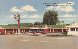 London Kentucky Village Motel Street View Antique Postcard K88177