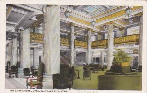 Utah Salt Lake City Hotel Utah Lobby Curteich