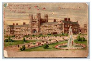 Die Cut HTL Postcard Administration Building 1904 St Louis Expo pc1813