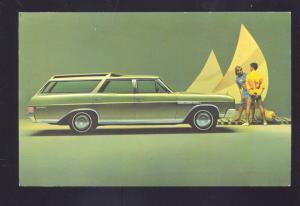 1966 BUICK STATION WAGON AKRON OHIO CAR DEALER VINTAGE ADVERTISING POSTCARD