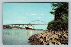 High Level Bridge, Vintage St Georges, Delaware Postcard