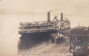 RP: Steamer CHIPPEWA , Niagara Falls to Toronto , Ontario , Canada , 00-10s