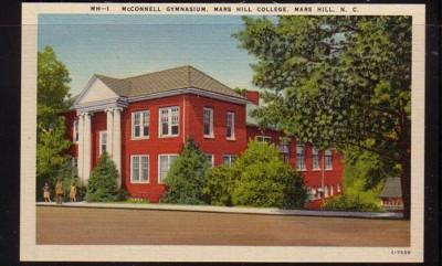 North Carolina postcard McConnell Gym Mars Hill College