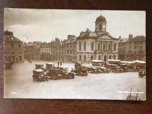 1929 RPPC The Square, Kelso, Scotland - 1920s Cars, Buses, Lorry C13