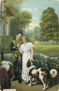 Netherland 1906 couple fantasy lovers dog man uniform Scheiden doet lijden
