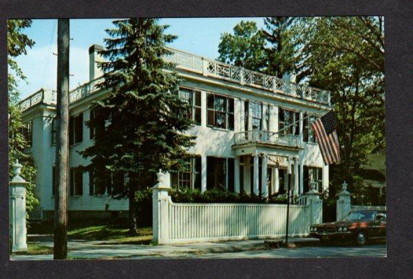ME View Bath Marine Ship Museum BATH Maine Postcard Carte Postale PC