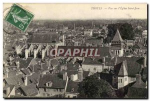 Troyes Old Postcard View on St John & # 39eglise
